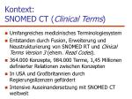 kontext snomed ct clinical terms