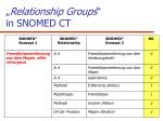 relationship groups in snomed ct
