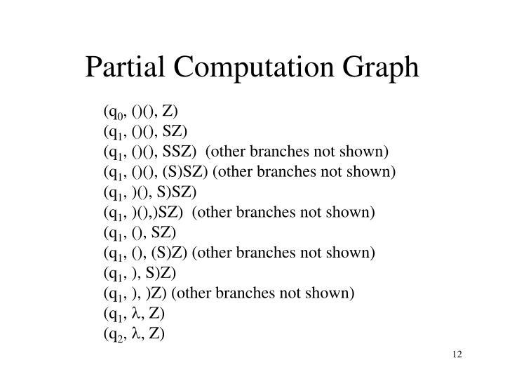 Partial Computation Graph