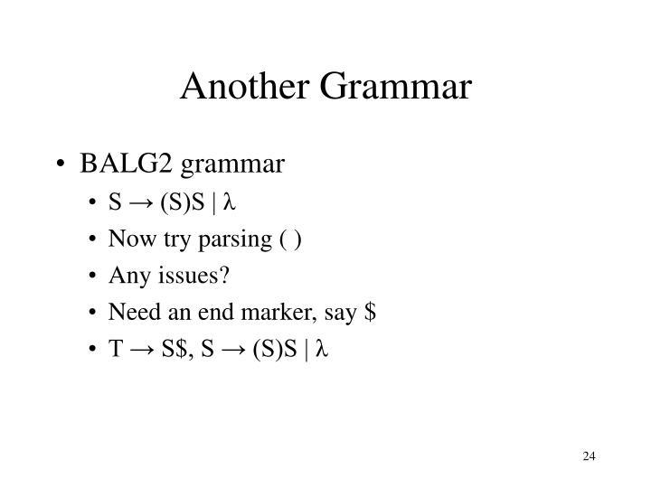 Another Grammar