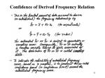 confidence of derived frequency relation