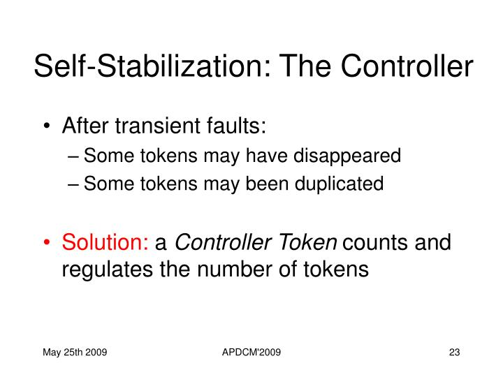 Self-Stabilization: The Controller