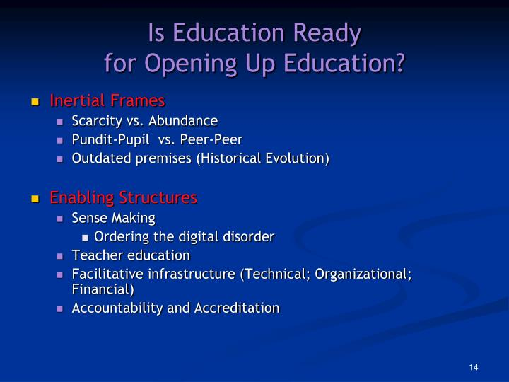 Is Education Ready