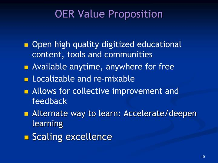 OER Value Proposition