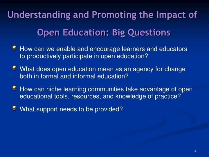 Understanding and Promoting the Impact of