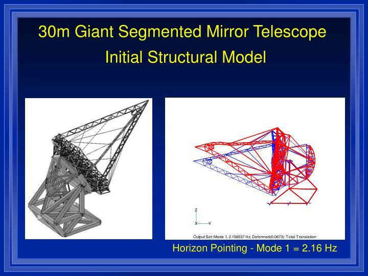 30m Giant Segmented Mirror Telescope