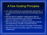 a few guiding principles