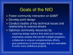 goals of the nio