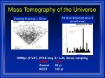mass tomography of the universe