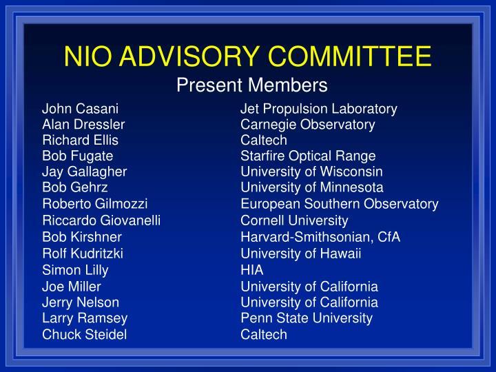 NIO ADVISORY COMMITTEE