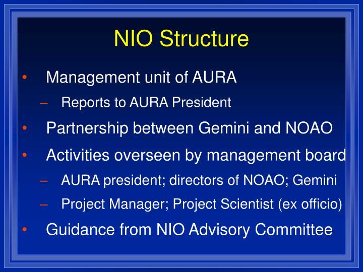NIO Structure