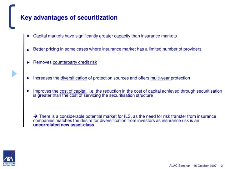 Key advantages of securitization