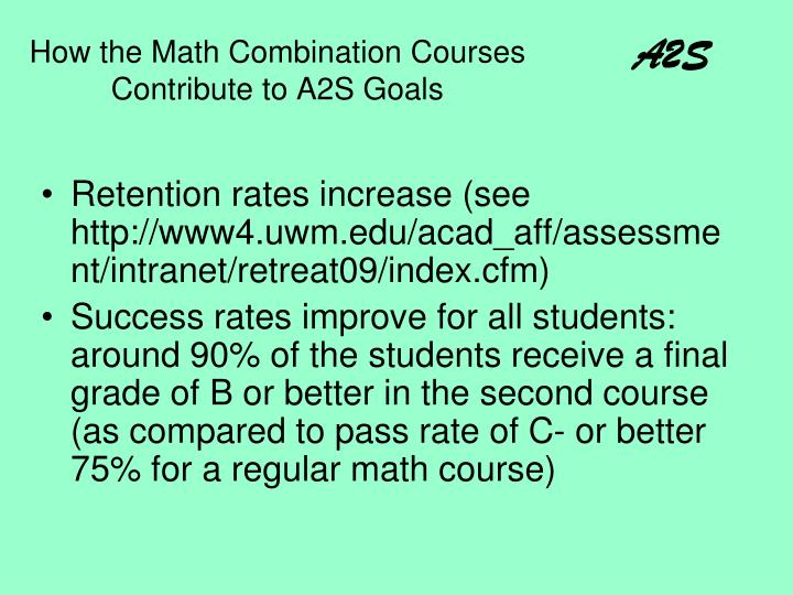 How the Math Combination Courses