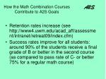 how the math combination courses contribute to a2s goals