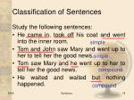 classification of sentences5