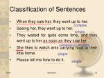 classification of sentences6