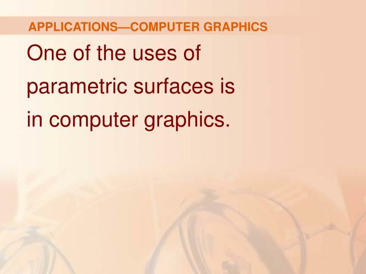 APPLICATIONS—COMPUTER GRAPHICS