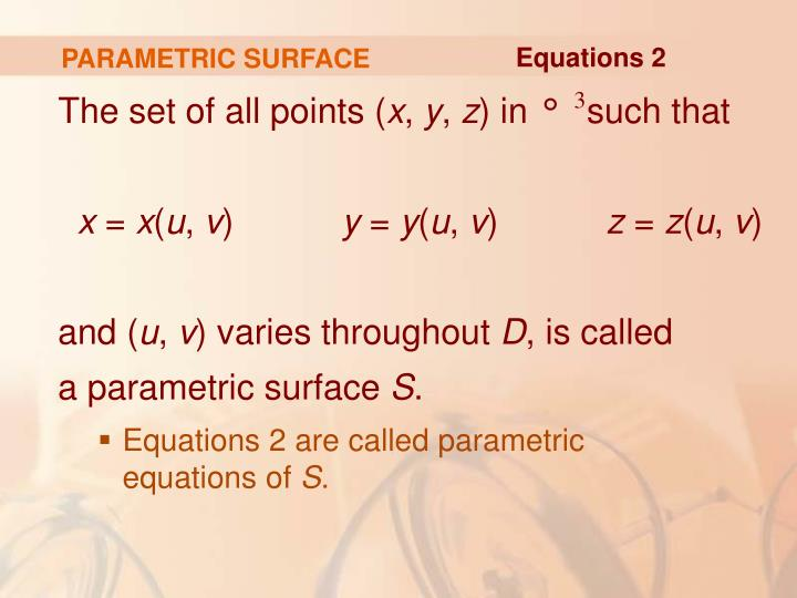 PARAMETRIC SURFACE