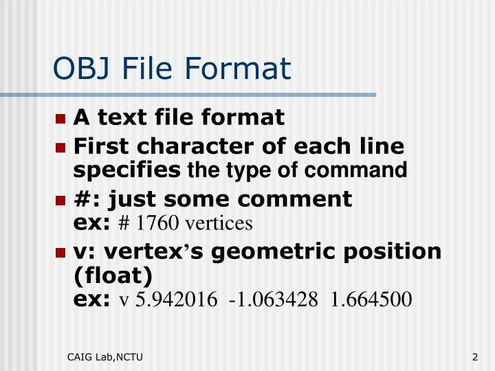 OBJ File Format