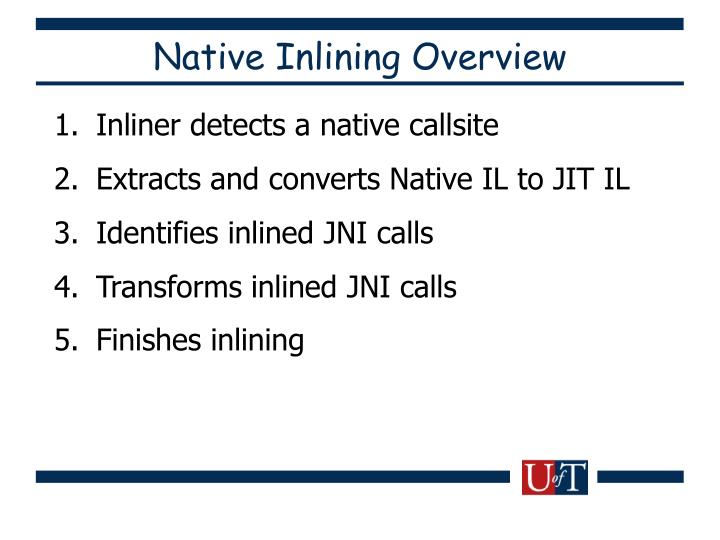Native Inlining Overview
