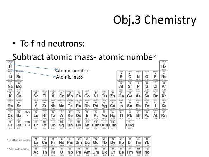 Obj.3 Chemistry