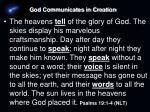 god communicates in creation1