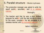 5 parallel structure words phrases1