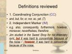 definitions reviewed1