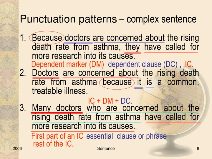Punctuation patterns
