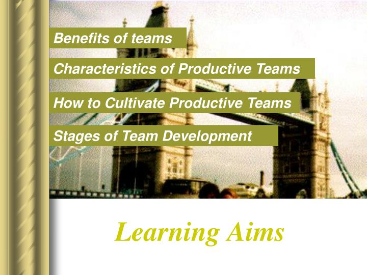 Learning Aims