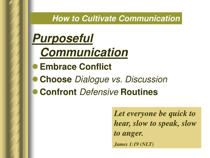 How to Cultivate Communication