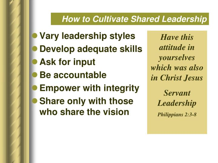 How to Cultivate Shared Leadership