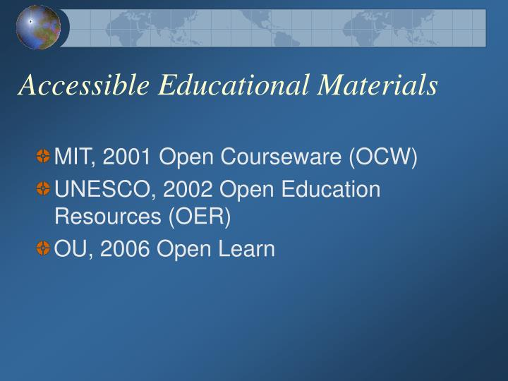 Accessible Educational Materials