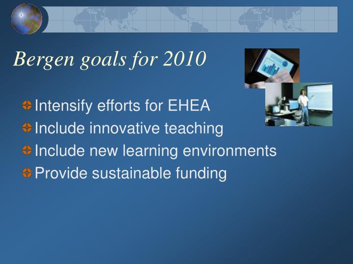 Bergen goals for 2010