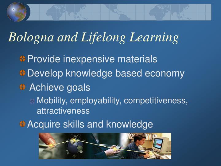 Bologna and Lifelong Learning