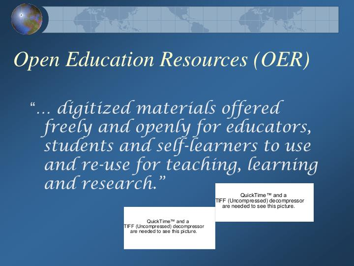 Open Education Resources (OER)