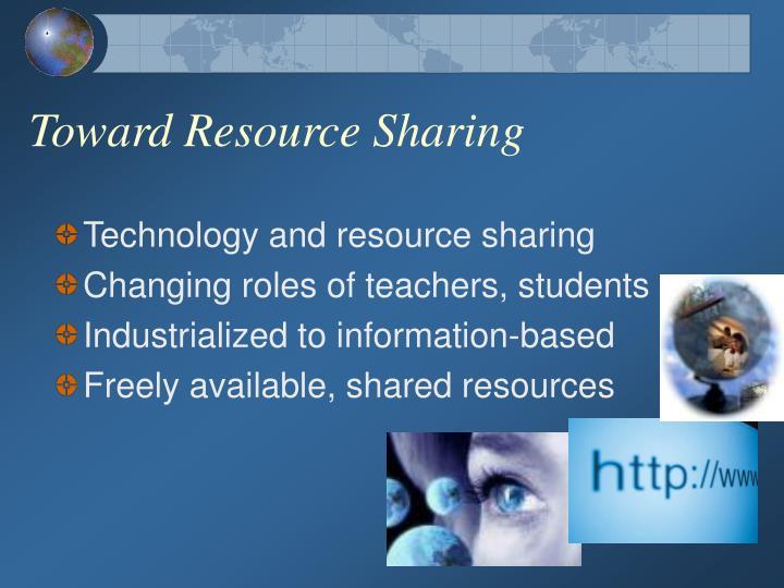 Toward Resource Sharing