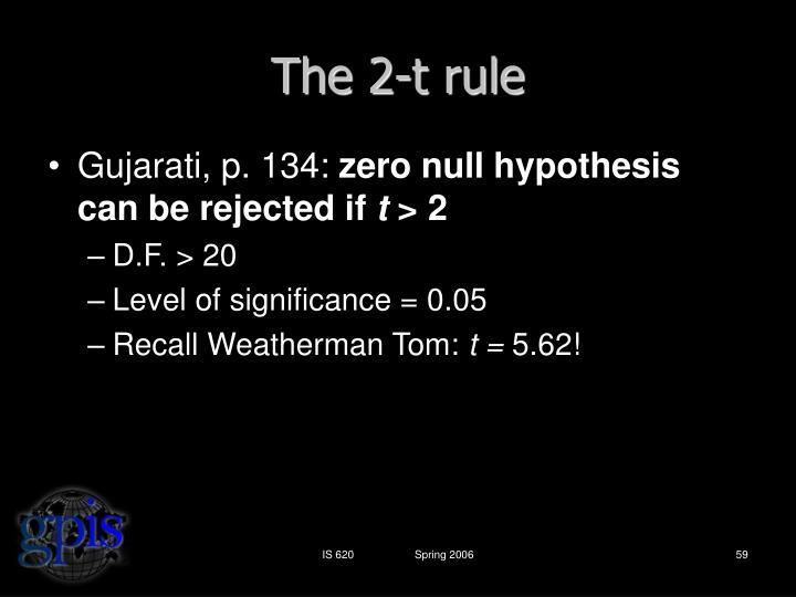 The 2-t rule