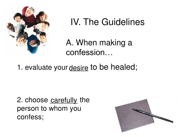 IV. The Guidelines
