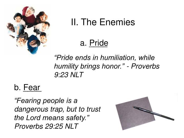 II. The Enemies