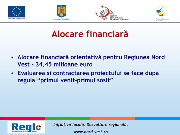 Alocare financiară