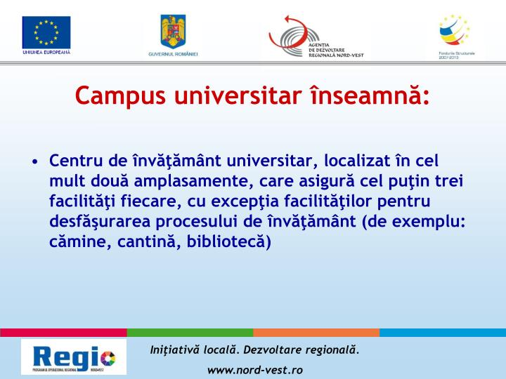 Campus universitar înseamnă: