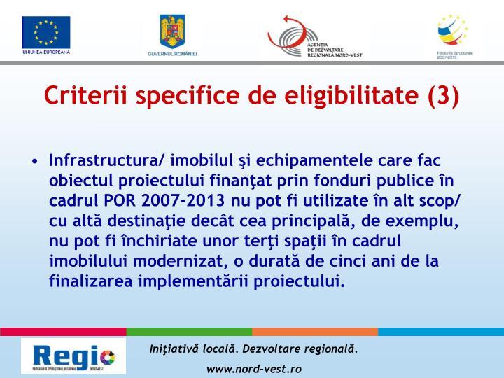 Criterii specifice de eligibilitate (3)