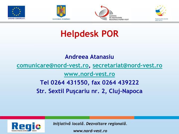 Helpdesk POR