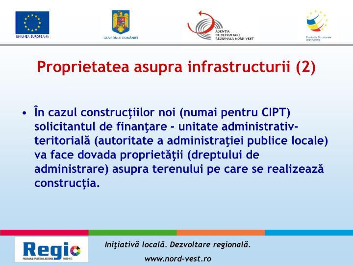 Proprietatea asupra infrastructurii (2)