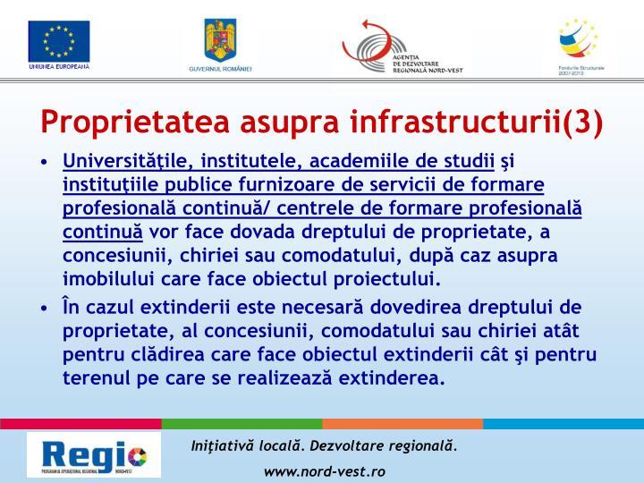Proprietatea asupra infrastructurii