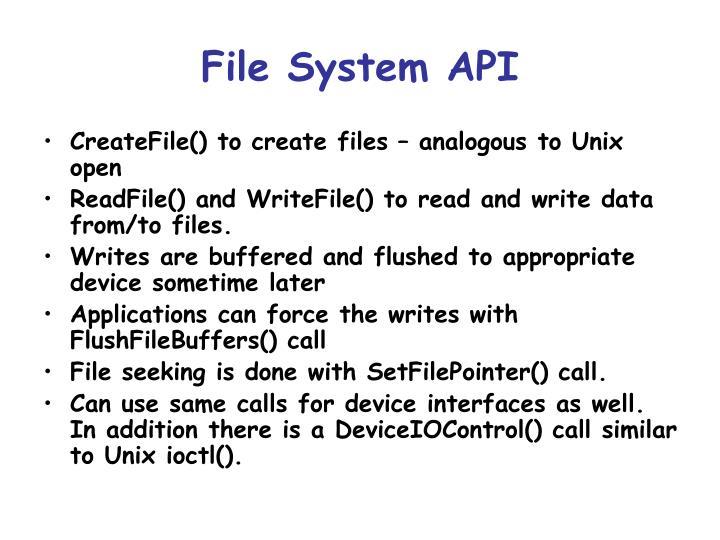 File System API