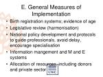 e general measures of implementation