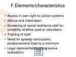 f elements characteristics