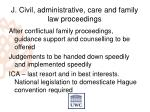 j civil administrative care and family law proceedings1